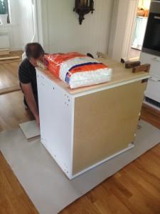 Köksö med IKEA-stommar